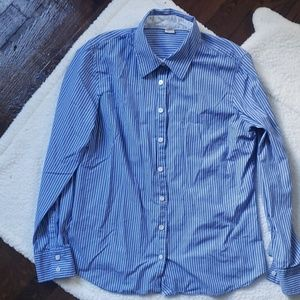 J.Crew Blue & White Striped Kathryn Slim Fit SZ L